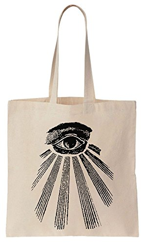 Bolsos Reutilizables Tote de Eye Seeing Algodón The de Bag All ILLUMINATI Compras wxSOYqzW