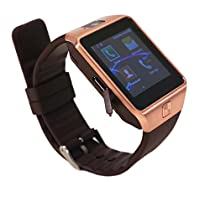 Aipker Smartwatch Phone with Camera SIM TF Card Slot Bluetooth Compatible Android Smart Phones Gold