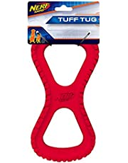 """Nerf Dog VP6825 Tire Infinity Tug Durable Dog Toy 10"""" Red Large"""