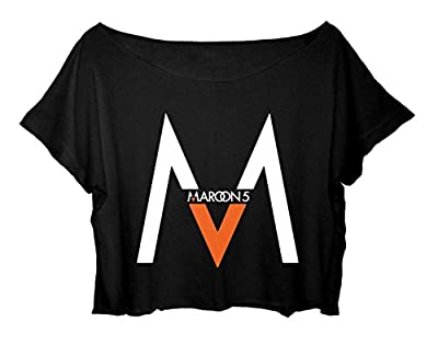 ASA Women's Crop Top Maroon 5 Shirt Adam Levine American Rock Pop T-Shirt