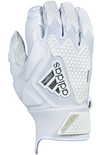 adidas Freak 3.0 Padded Receiver's Gloves, White, Medium