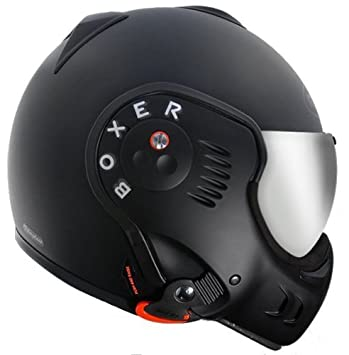 Roof Casco Boxer V8 Shadow Negro de mate, talla XL (61)