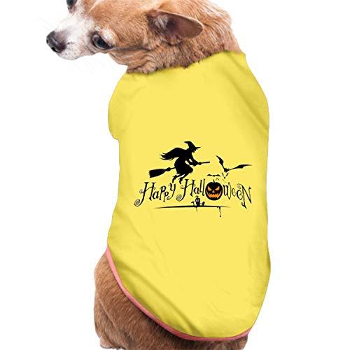 (JuLeFan Pet Shirt, Dog Cat Clothes Puppy Classic Vest Happy Halloween T-Shirt)