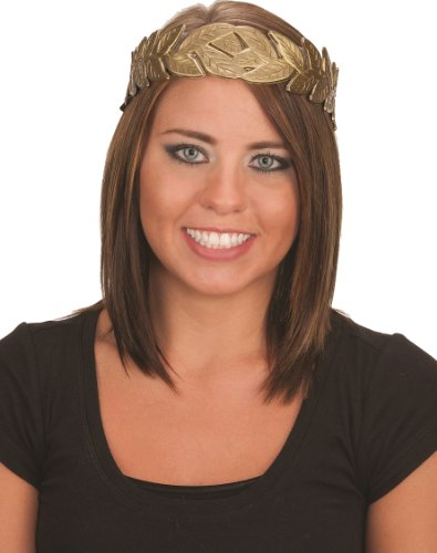 Jacobson Hat Company Laurel Leaf Headband, Bronze, Medium (adjustable rear tie sizing fits most)