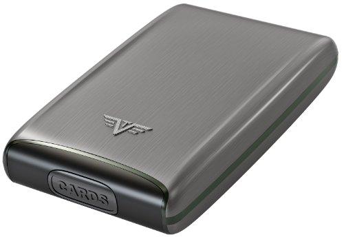 Case Fan Card Wallet Holder Card Silver Men Taupe Virtu Credit Aluminium For Tru Credit pxXEqW