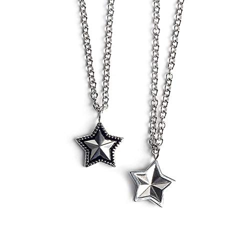 - NOBIE Simple Retro Necklace Female European and American Personality Hundred Star Pendant Men and Women Titanium Steel Couple Necklace Creative Jewelry