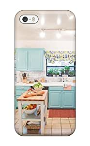 Hot 4566263K12355011 Protector Case For HTC One M8 Cover Blue Cabinetry In Cozy Kitchen Case