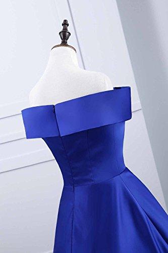 Dell'abito Senza Dalla Fuori D'onore Da Linea Vestono Una Donne Della Yinyyinhs Spalla Promenade Lunga Sera Blu Spalline Damigella wEp6WvnFq