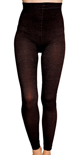 Nicole Miller Marled Footless Tights for Women Small Black