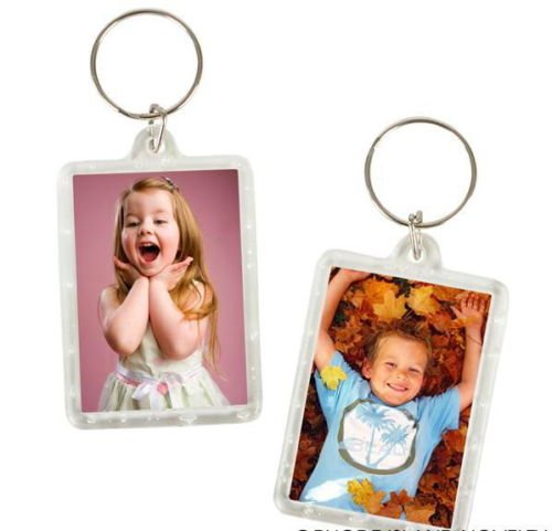 100 Photo Frame Keychains WHOLESALE LOT