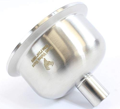 BVV 3 Inch x 1/4 Inch FNPT 304 Stainless Steel Hemispherical Tri-Clamp Reducer by BEST VALUE VACS