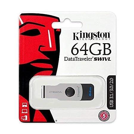 Kingston Data Traveler SWIVL 64 GB Pendrive USB 3.1 Pen Drives at amazon