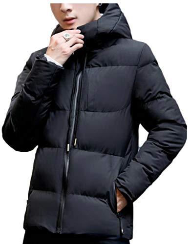 Winter Jacket TTYLLMAO Down Hood Puffer Coat Men's with Black Cotton Thicken 6005Pgq
