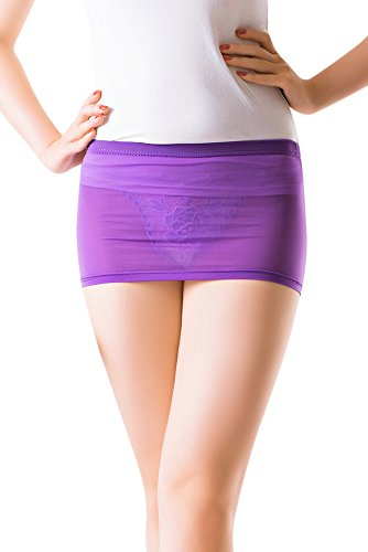 Mini Stretch Costumes (R-STYLE Miniskirt Is Suitable For Attract Attention From Man Because Very Sexy Design. Including With Sexy Underwear (Purple))