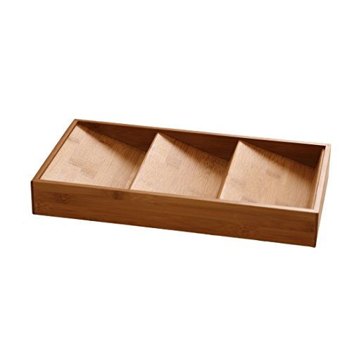 Seville Classics 3-Tier Bamboo Spice Rack Cabinet Drawer Tray Organizer