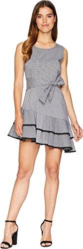 BB Dakota Women's Holly Golightly Gingham Dress, Black, 10]()