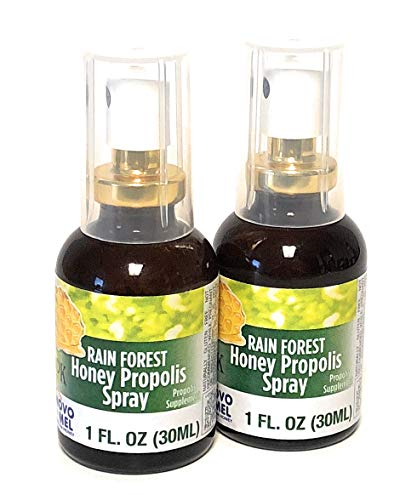 Propolis Spray - Brazilian Green Bee Propolis and Rain Forest Honey Oral Spray, 2 bottle pack
