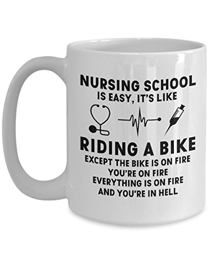 For Gifts Easy BikeFunny Present Nurses A BirthdayChristmas DoctorsGraduation It's Nursing Or SchoolNurse Riding Is From Like School H2IE9DW