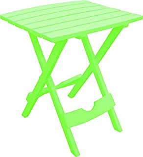 """product image for Adams Quik Fold Side Table 19.75"""" H X 15.25"""" W X 17.375"""" D Summer Green 25 Lb. Capacity"""