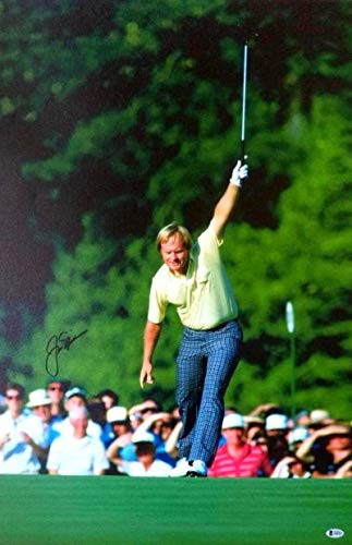 Jack Nicklaus Golf Legend Autographed Signed Signature26X34 Canvas Mounted - Beckett Authentic