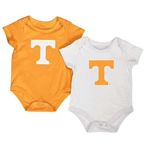 Colosseum NCAA Short Sleeve Bodysuit 2-Pack-Newborn and Infant Sizes-Tennessee Vols-3-6 ()