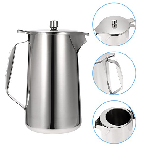Anself Stainless Steel Water Pot Ice Tea Jug Kettle Water