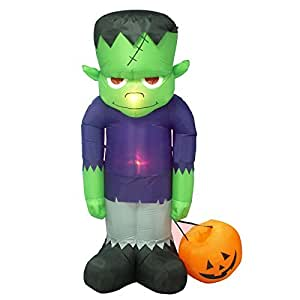 Giant Inflatable Halloween Decorations Frankenstein 8 Ft Tall Outdoor Yard Holiday Home Decor