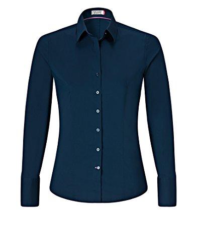 donna VB Scuro Blu Classico lunghe Maniche Camicia ArxwqgIrP