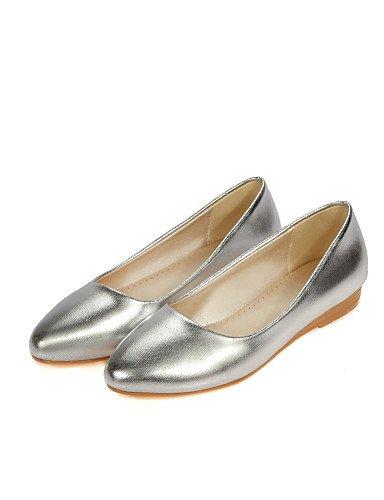 us5 Redonda de Mujer De oro Pdx Plano Plata Uk3 Zapatos Eu35 Cn34 punta Comodidad Casual Taln Golden Flats 8BqBw6x