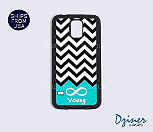 Galaxy Note 3 Case - Black White Blue Chevron Infinity Young