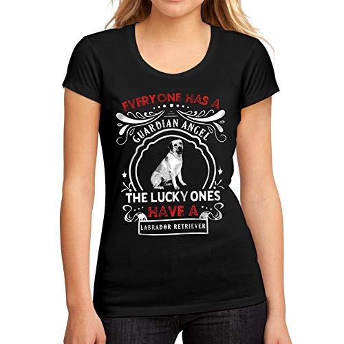 Camiseta Dog Mujer Shirt Labrador Gráfico Retriever Profundo Negro Tee fwFFd1