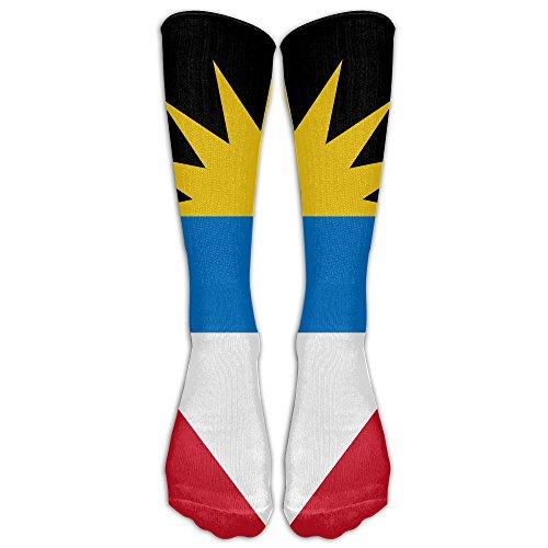 FUNINDIY Antigua And Barbuda Flag Compression Socks Soccer Socks High Socks Long Socks For Running,Medical,Athletic,Edema,Diabetic,Varicose Veins,Travel,Pregnancy,Shin ()