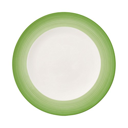 Colorful Life Green Apple Dinner Plate by Villeroy & Boch - Premium Porcelain - Made in Germany - Dishwasher and Microwave Safe - 10.5 - Safe & Plates Boch Villeroy Microwave