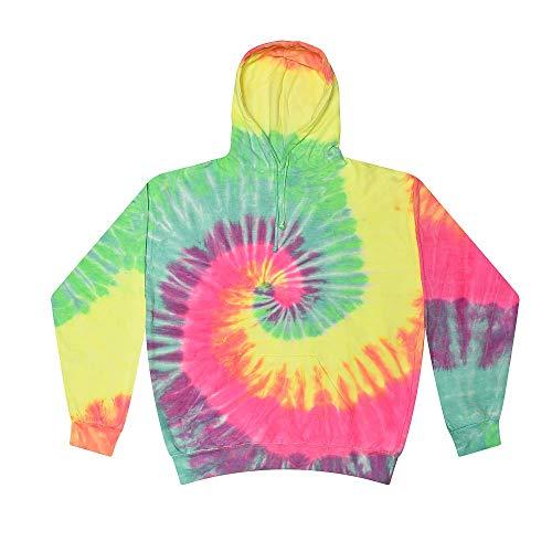 Colortone Tie Dye Hoodie XL Minty Rainbow