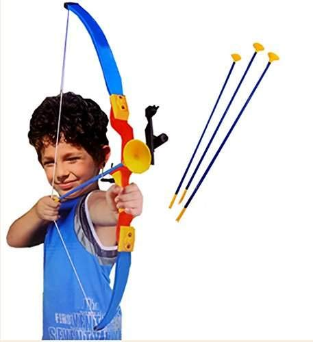 ESnipe Mart® Super Archery Shoot Set Bow Arrow a Toy for Kids 6 Years Plus ( Multi Color)