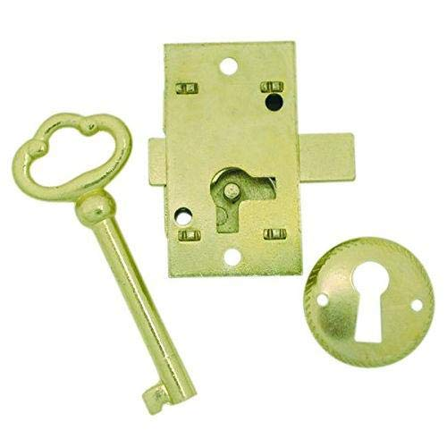 Antique Furniture Lock - U ULTRA HARDWARE 44819 Surface Mounted Cupboard Lock, 2 x 2 x 2 inches