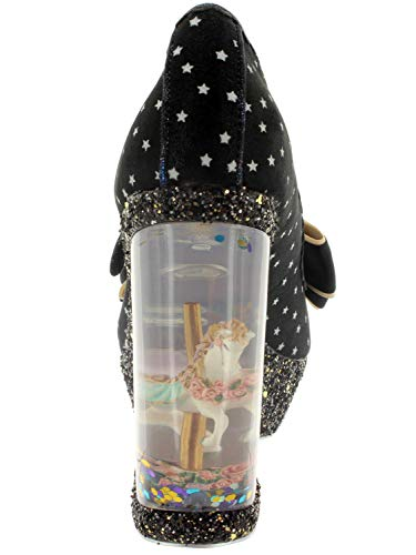 Chestnut Platform Choice Irregular Carousel Wedge Glitter Black Shoes Womens black B q4UxPE