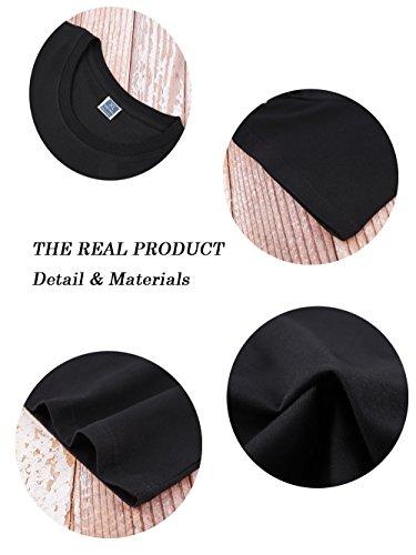 Jovono Fashion Mens Round Neck T-Shirt Printing Casual Short Sleeve Tee Cotton Black Short Tops (XXXX-Large) by Jovono (Image #4)