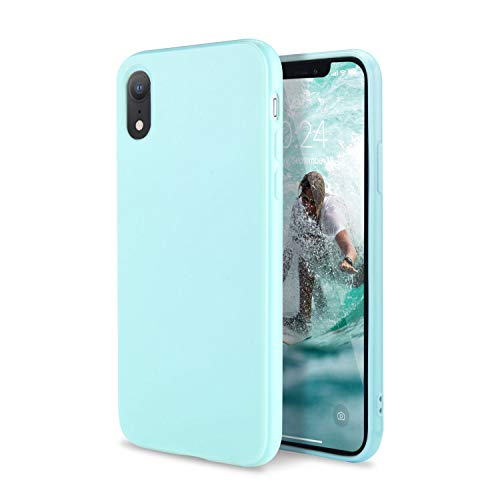 FGA Compatible iPhone XR Case, Fashion Sugar Candy Cute Slim Thin Lightweight Solid Color Shockproof Protective Soft Flexible TPU Rubber Gel Case for iPhone XR 6.1inch (2018) (Mint -