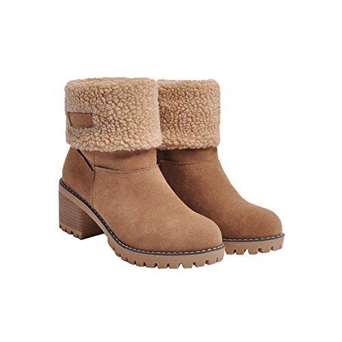 Women Cute Warm Short Boots Suede