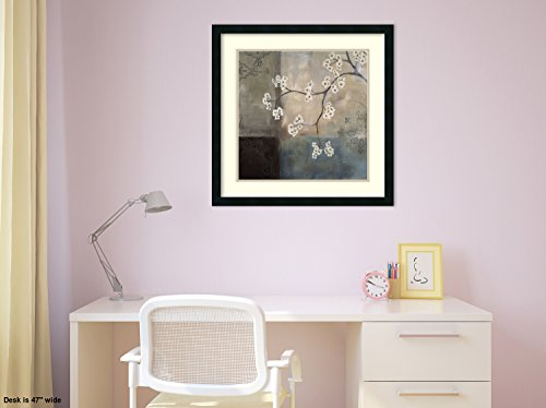 Framed Art Print, 'Spa Blossom I' by Laurie Maitland: Outer Size 25 x 25'' by Amanti Art (Image #3)