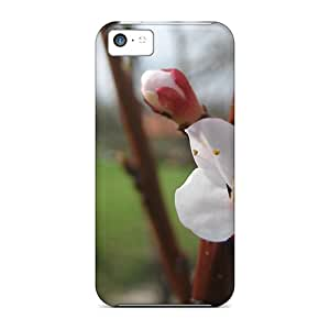 New Fashion Premium Tpu Case Cover For Iphone 5c - Apricot Blossom