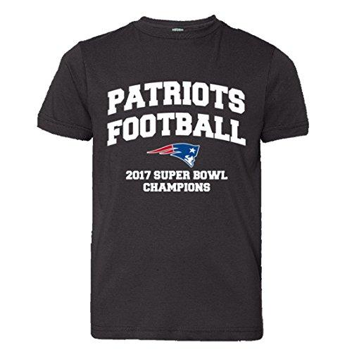 Youth New England Patriots Super Bowl Champs Soft HQ Tee - Black (Super Bowl Champ Shirt)