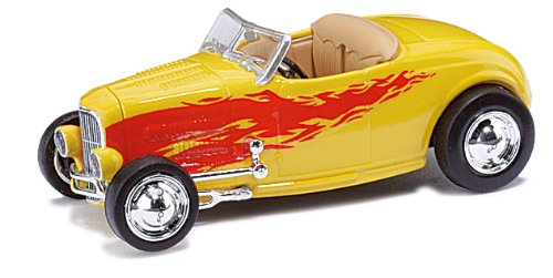 Ricko Automobile 38497 HO RTR 1932 Ford Hot Rod Model Car 1:87 Hobby Train Vehicles, Yellow/Red by Ricko