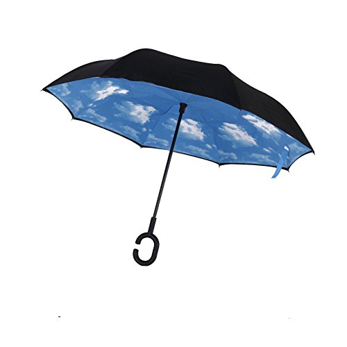 Windproof Inverted Umbrella C Shaped Protection product image