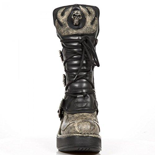 New Rock Boots M.8373-cz4 Gotico Hardrock Punk Damen Highheel Stiefel Beige