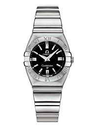 Omega Constellation Womens Black Dial Stainless Steel Double Eagle Watch 1581.51