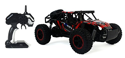 Cross Country Speed Racing Slayer Remote Control Toy Red Rally Buggy RC Car 2.4 GHz 1:16 Scale Size w/ Working Suspension, Spring Shock Absorbers