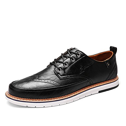 Traspirante Pure Casual Pure Business up uomo Shoe PU Bianco Scarpe C leggero Primavera Brown lavoro Estate da Black Scarpe Business Lace XUE Pure Grey formale Bq8za