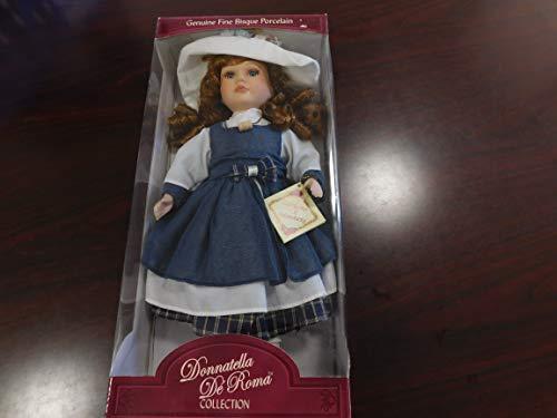 "Donnatella De Roma Collection 16"" Certify Hand Painted Fine Bisque Porcelain Doll"